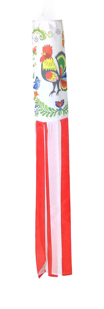 Poland Wind Sock - AN: Rooster, Below $10, Collectibles, General Gift, Hanging Decorations, Home & Garden, Polish, Windsock