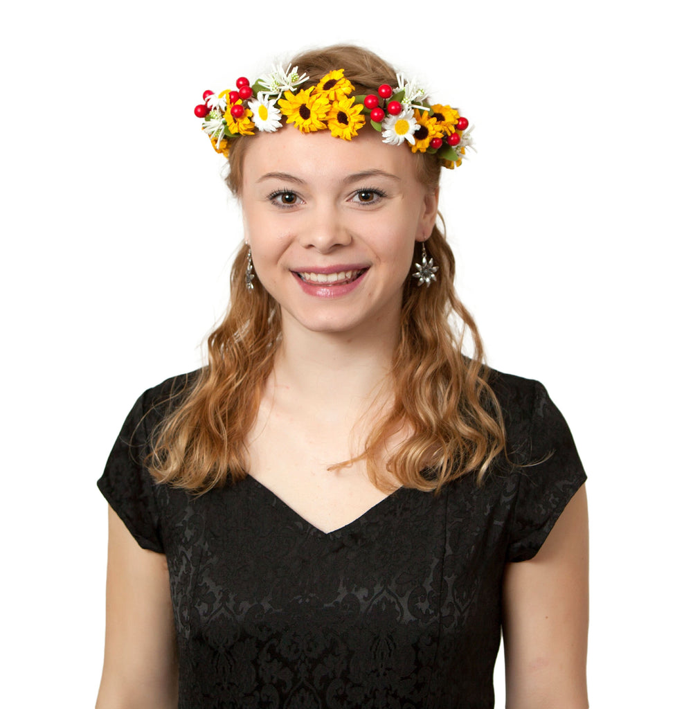 Oktoberfest Garland Golden Harvest - Edelweiss, Garlands, German, Hats, Hats-Headband, New Products, NP Upload, Under $10, Yr-2016