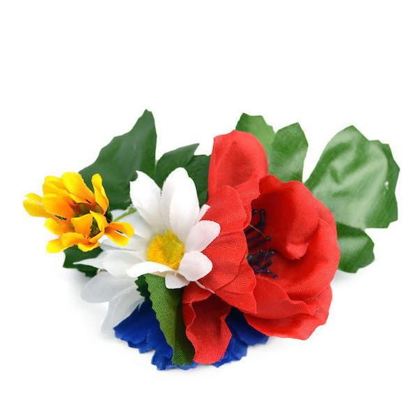 Oktoberfest Harvest Flowers Hair Clip - Apparel-Costumes, Below $10, Edelweiss, Garlands, German, Germany, Hats, Hats-Hair Accessories, Hats-Hair Clip, Hats-Kids, Hats-Party, Home & Garden, Top-GRMN-B - 2 - 3