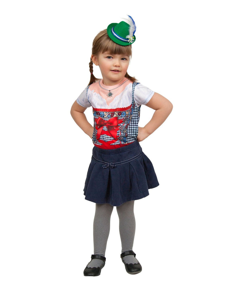 Oktoberfest Costume Mini Green Bavarian Hat - Apparel-Costumes, German, Hats, Hats-Hair Accessories, Hats-Hair Clip, Hats-Mini, Hats-Party, New Products, NP Upload, PS-Party Supplies, Under $10, Yr-2017 - 2