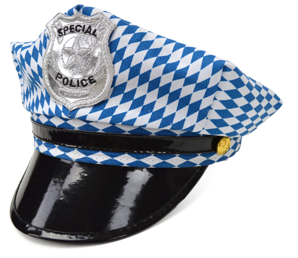 Bavarian Oktoberfest Party Police Hat - German, Hats, Hats-Party, New Products, NP Upload, Under $10, Yr-2016