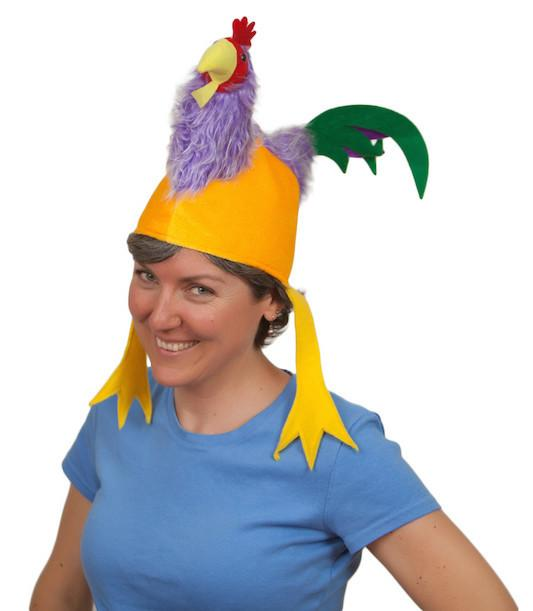Oktoberfest Colorful Rooster Costume Hat - AN: Rooster, Animal, Apparel-Costumes, Chicken Dance, felt, German, Germany, Hats, Hats-Kids, Hats-Party, Oktoberfest, PS-Party Supplies