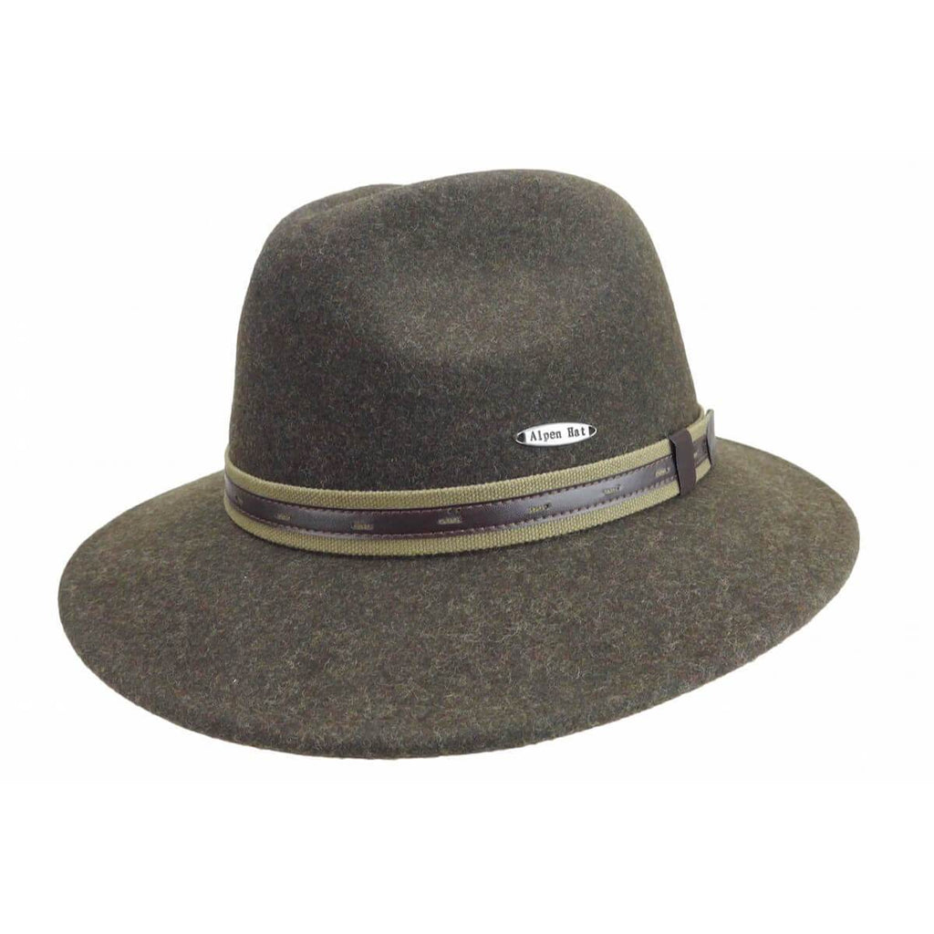 HAT:CLASSIC BROWN 100% WOOL