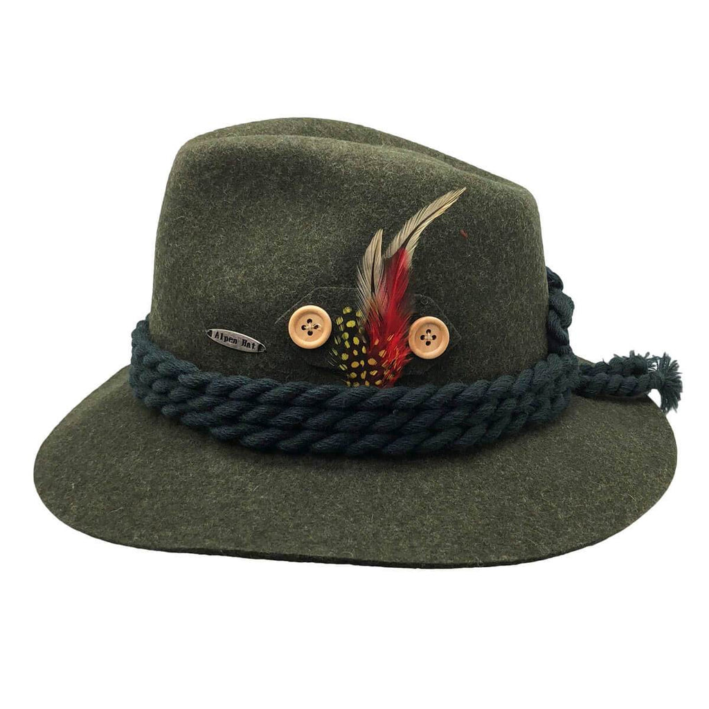 HAT: ALPINE WOOL HAT/GREEN