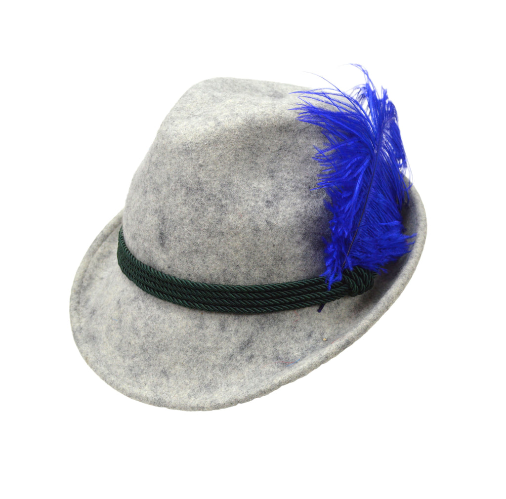Decorative Blue Hat Feather for Festival Hats - CT-540, German, Hat Pins, Hats, Hats-Accessories, Hats-Feathers, New Products, NP Upload, Under $10, Yr-2016 - 2