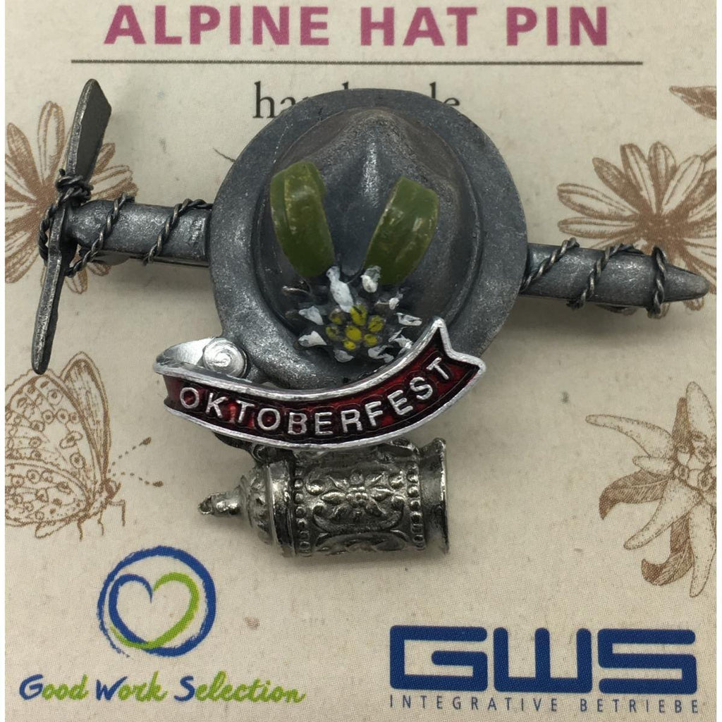HP502: HAT PIN: AXE & HAT/OFEST