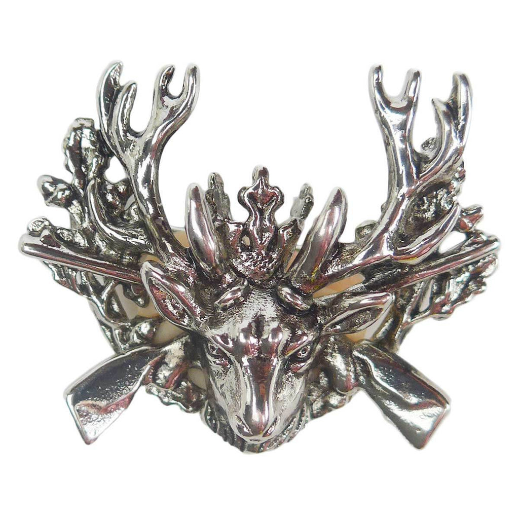 German Hunting Hat Pin with Stag & Rifles -1