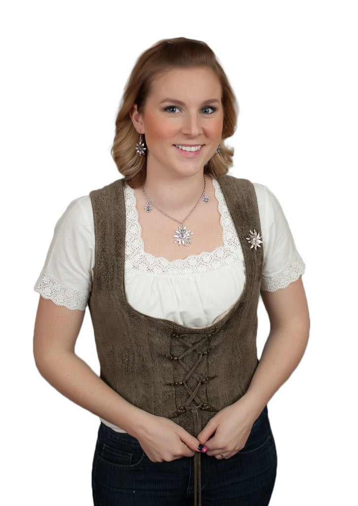 German Edelweiss Necklace - Apparel-Costumes, Edelweiss, German, Germany, Jewelry, Top-GRMN-A - 2 - 3 - 4