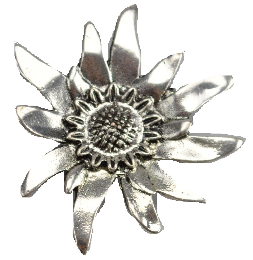 German Edelweiss Brooch - Apparel-Costumes, Edelweiss, German, Germany, Jewelry, Top-GRMN-B - 2