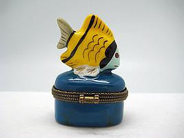 Yellow Fish Jewelry Boxes - Collectibles, Figurines, General Gift, Hinge Boxes, Hinge Boxes-General, Home & Garden, Jewelry Holders, Kids, Toys - 2 - 3 - 4 - 5 - 6