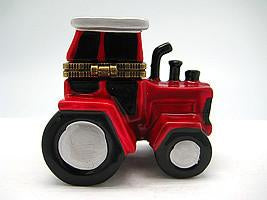 Red and White Tractor Jewelry Boxes - Collectibles, Figurines, General Gift, Hinge Boxes, Hinge Boxes-General, Home & Garden, Jewelry Holders, Kids, PS-Party Favors, Toys - 2 - 3 - 4