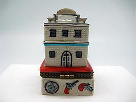 Western City Hall & Jail Treasure Boxes - Collectibles, Figurines, General Gift, Hinge Boxes, Hinge Boxes-Western, Home & Garden, Jewelry Holders, Kids, Toys, Western - 2 - 3 - 4