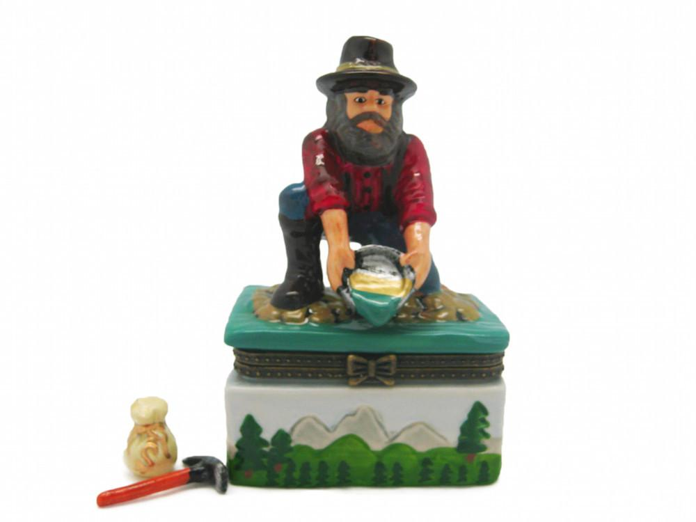 Western Prospector Treasure Boxes - Collectibles, Figurines, General Gift, Hinge Boxes, Hinge Boxes-Western, Home & Garden, Jewelry Holders, Kids, Toys, Western