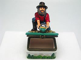Western Prospector Treasure Boxes - Collectibles, Figurines, General Gift, Hinge Boxes, Hinge Boxes-Western, Home & Garden, Jewelry Holders, Kids, Toys, Western - 2