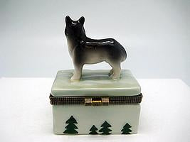 Husky Jewelry Boxes - Animal, Collectibles, Figurines, General Gift, Hinge Boxes, Hinge Boxes-General, Home & Garden, Jewelry Holders, Kids, Toys - 2 - 3 - 4