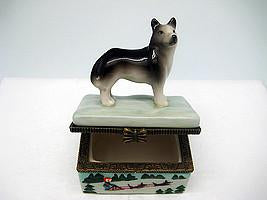 Husky Jewelry Boxes - Animal, Collectibles, Figurines, General Gift, Hinge Boxes, Hinge Boxes-General, Home & Garden, Jewelry Holders, Kids, Toys - 2