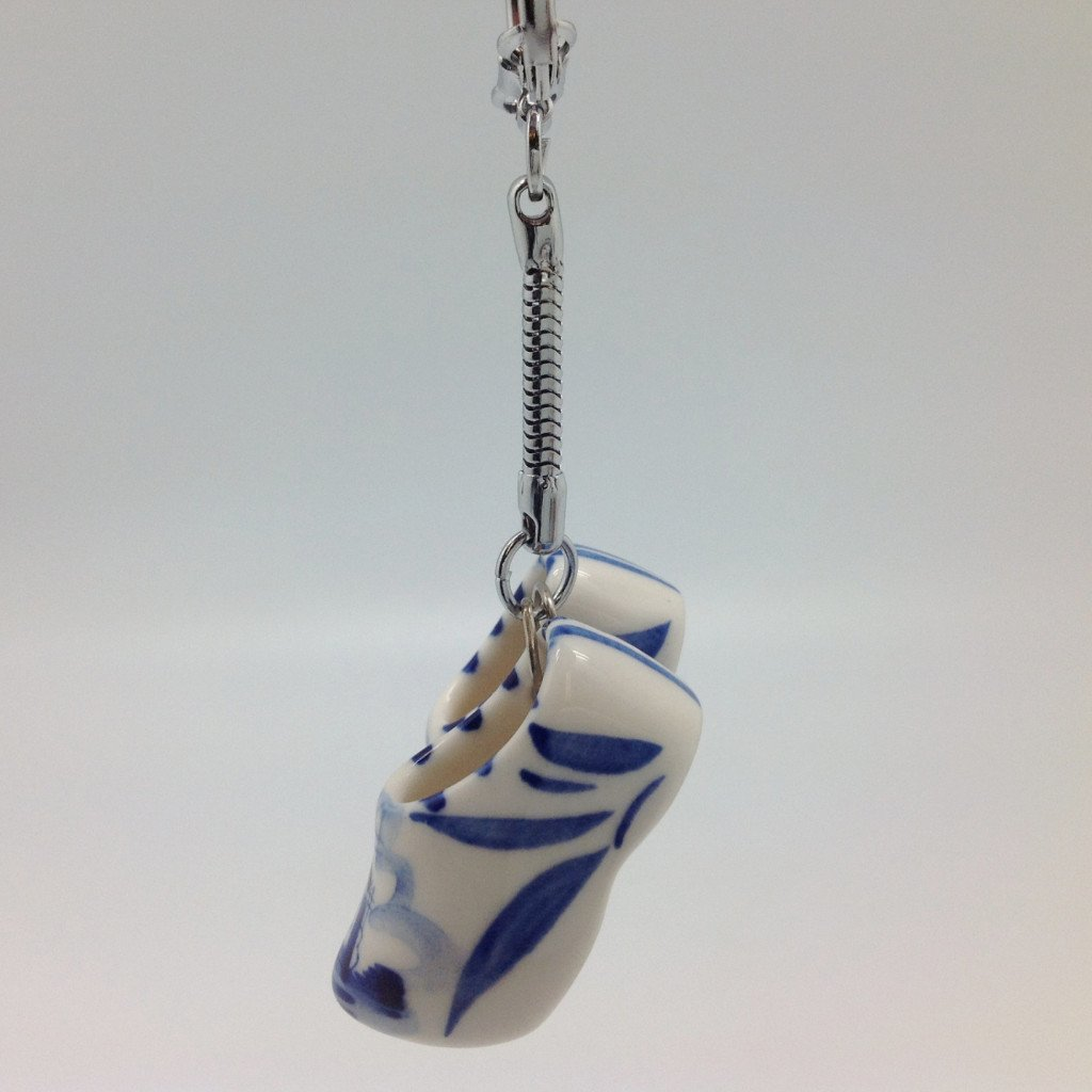 Large Dutch Clogs Delft Ceramic Keychain - Apparel & Accessories, Collectibles, CT-551, CT-600, Dutch, Key Chains, Key Chains-Dutch, PS-Party Favors, PS-Party Favors Dutch, Top-DTCH-B, Toys - 2 - 3