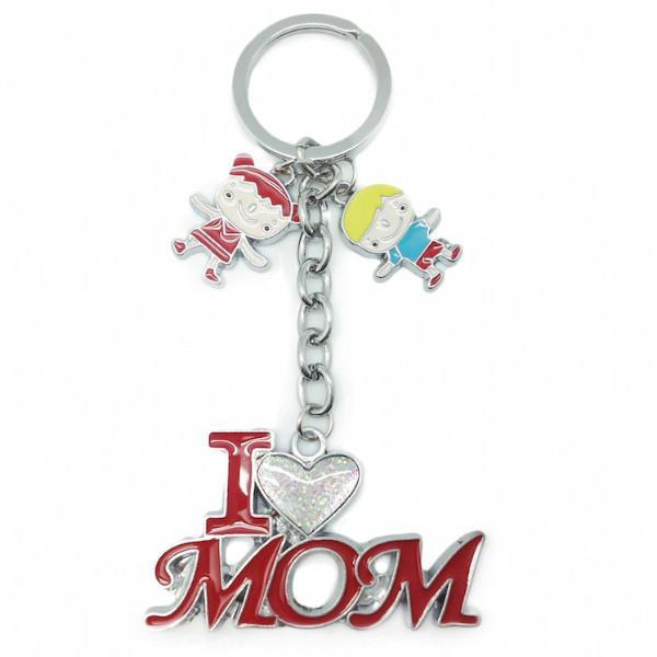 Mom Gift Key Chain  inchesI Love Mom inches - Apparel & Accessories, Collectibles, CT-100, General Gift, Key Chains, Mom, PS-Party Favors, Toys