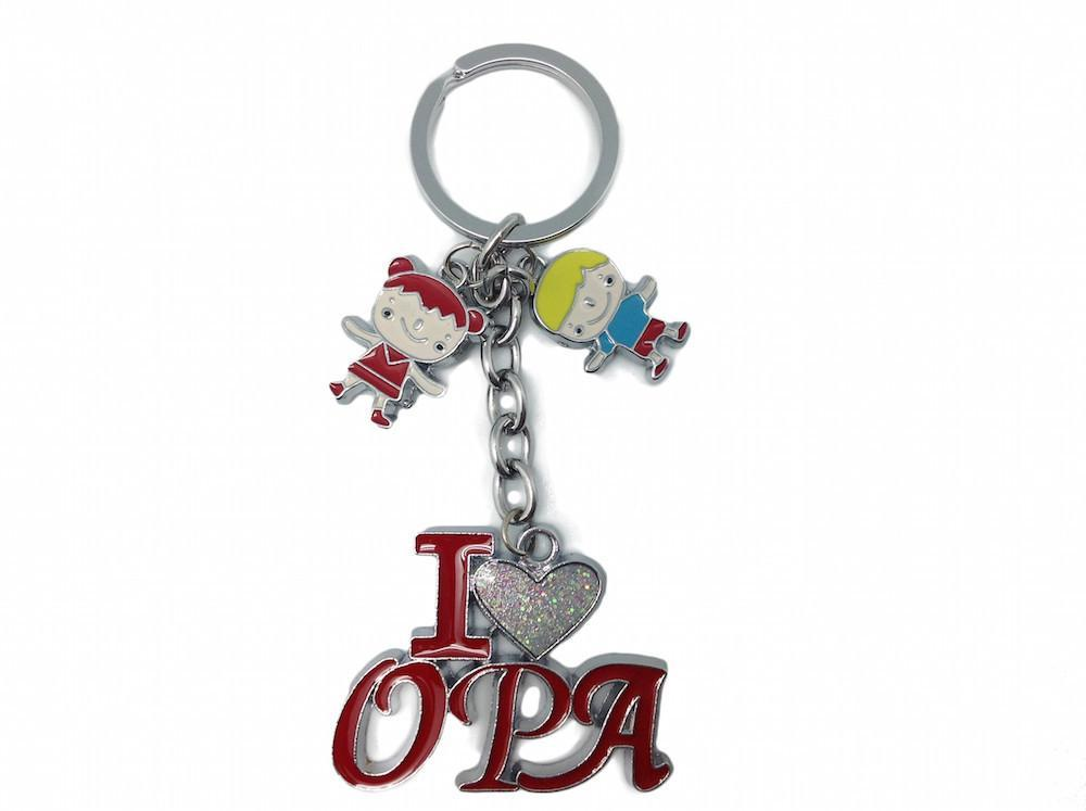 German Opa Gift Idea Key Chain  inchesI Love Opa inches - Apparel & Accessories, Collectibles, CT-100, CT-102, Dutch, german, Germany, Key Chains, Key Chains-German, Opa, PS-Party Favors, SY: I Love Opa, Toys