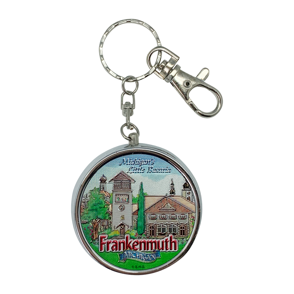 K415: KEYCHAIN PILLBOX: FRANKENMUTH