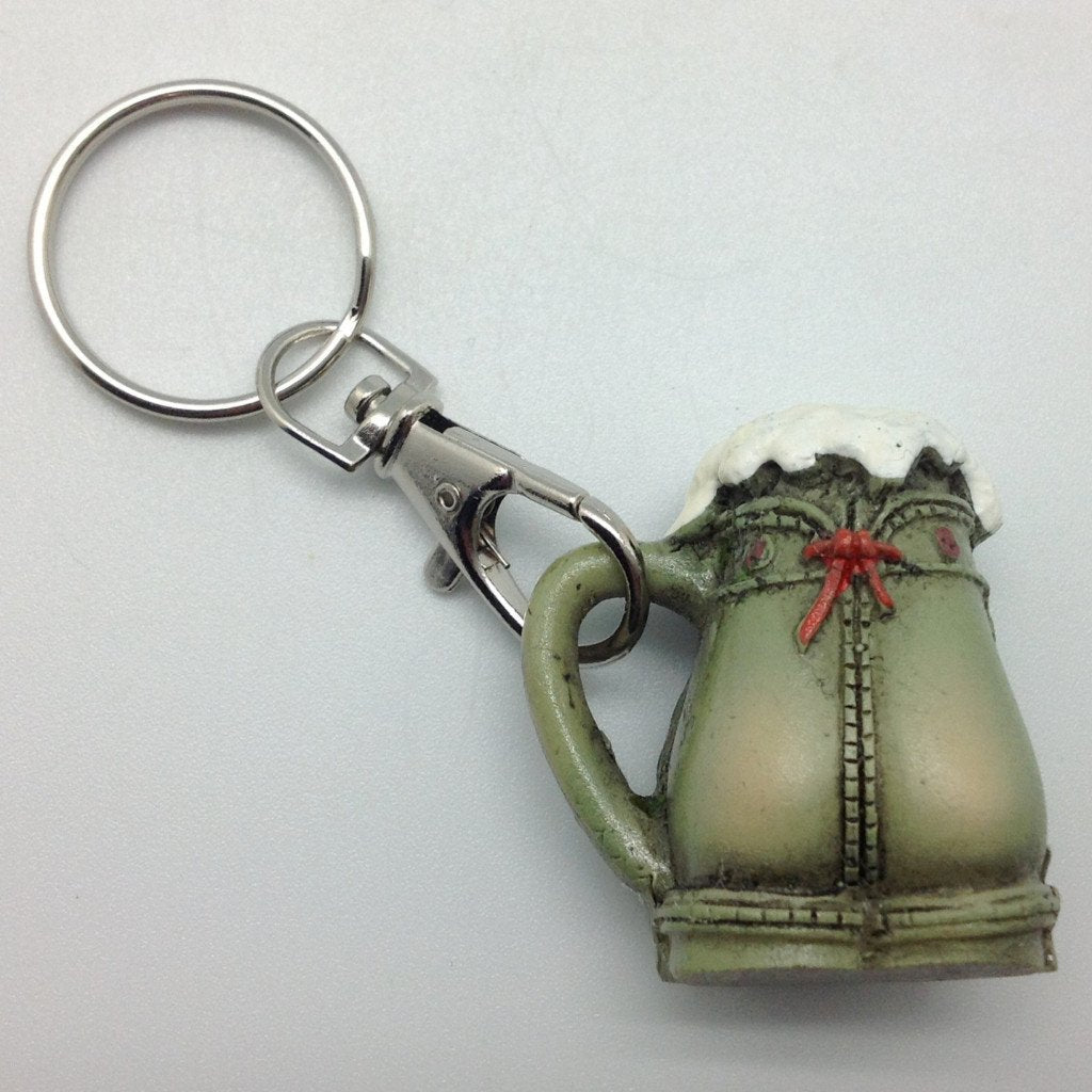 Oktoberfest Party Lederhosen Beer Stein Keychain - Alcohol, Apparel & Accessories, Collectibles, CT-550, German, Germany, Key Chains, Key Chains-German, PS- Oktoberfest Party Favors, PS-Party Favors, PS-Party Favors German, Top-GRMN-B, Toys - 2