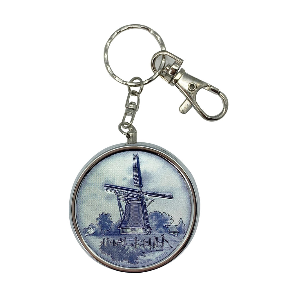 K492:  KEYCHAIN PILLBOX: DELFT WINDM