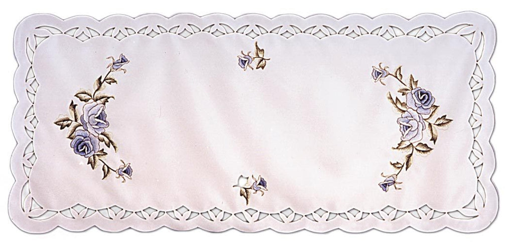 WHITE ROSE TABLECLOTH AND TABLE RUNNERS