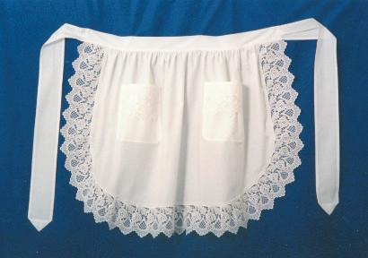 Deluxe Adult Victorian Lace Costume Half Apron White - $20 - $30, Apparel- Aprons - Half, Apparel-Costumes, Apparel-Kitchenware, CT-700, Ecru, General Gift, lace, Top-GNRL-A - 2 - 3 - 4