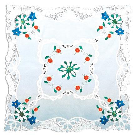 TABLECLOTH/EDELWEISS ROUND