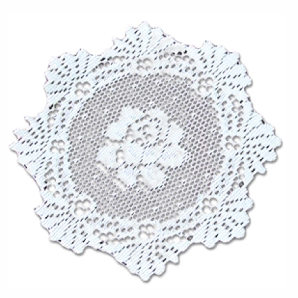 ALPINE ROSE/DOILY AND ROUND WHITE LINEN