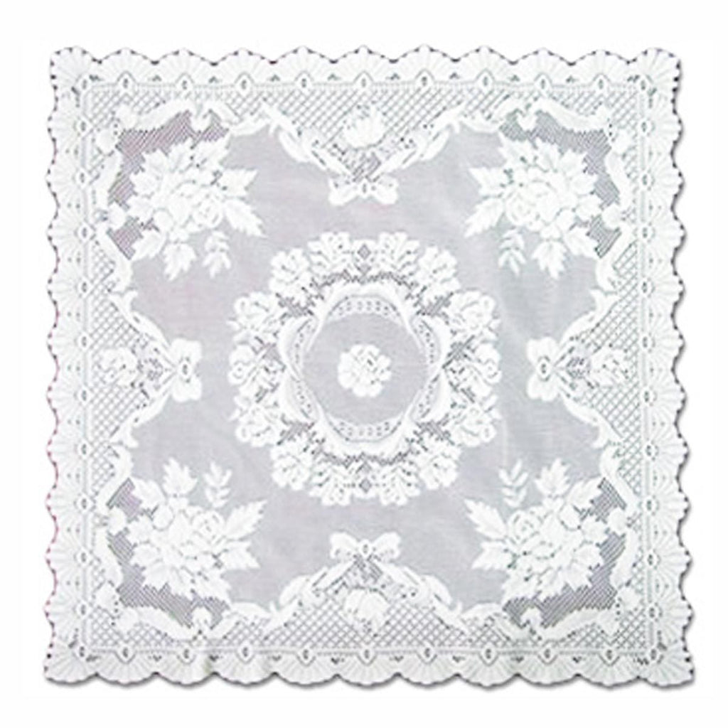 ALPINE ROSE WHITE TABLE RUNNER AND TABLECLOTH