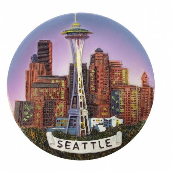 Souvenirs Seattle Night Skyline Magnet - Cities & States, Collectibles, General Gift, Home & Garden, Kitchen Magnets, Magnets-Refrigerator, PS-Party Favors, Seattle, Top-GNRL-B