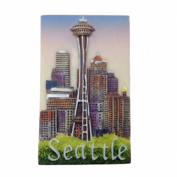 Seattle Souvenir Seattle Needle Magnet - Cities & States, Collectibles, General Gift, Home & Garden, Kitchen Magnets, Magnets-Refrigerator, PS-Party Favors, Seattle, Top-GNRL-B
