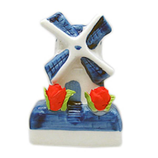 Novelty Windmill With Tulips Magnets - Collectibles, Delft Blue, Dutch, Home & Garden, Kitchen Magnets, Magnets-Delft, Magnets-Dutch, Magnets-Refrigerator, PS-Party Favors, PS-Party Favors Dutch, Top-DTCH-A, Tulips, Windmills