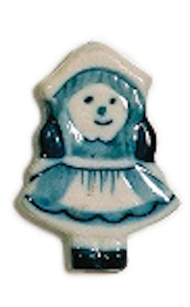 Delft Blue and White Girl Kitchen Magnet - Collectibles, Delft Blue, Dutch, Home & Garden, Kitchen Magnets, Magnets-Delft, Magnets-Dutch, Magnets-Refrigerator, PS-Party Favors, PS-Party Favors Dutch