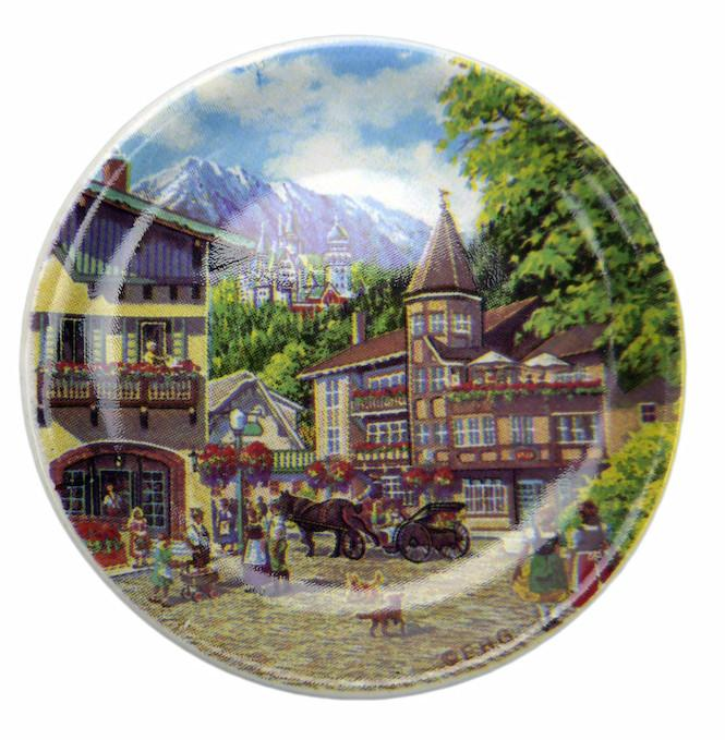 Souvenir Refrigerator German Summer Magnet Plate - Collectibles, CT-520, German, Germany, Home & Garden, Kitchen Decorations, Kitchen Magnets, Magnets-Delft, Magnets-German, Magnets-Refrigerator, Plates, PS-Party Favors, PS-Party Favors German, Tiles-Scenic Plates, Top-GRMN-B