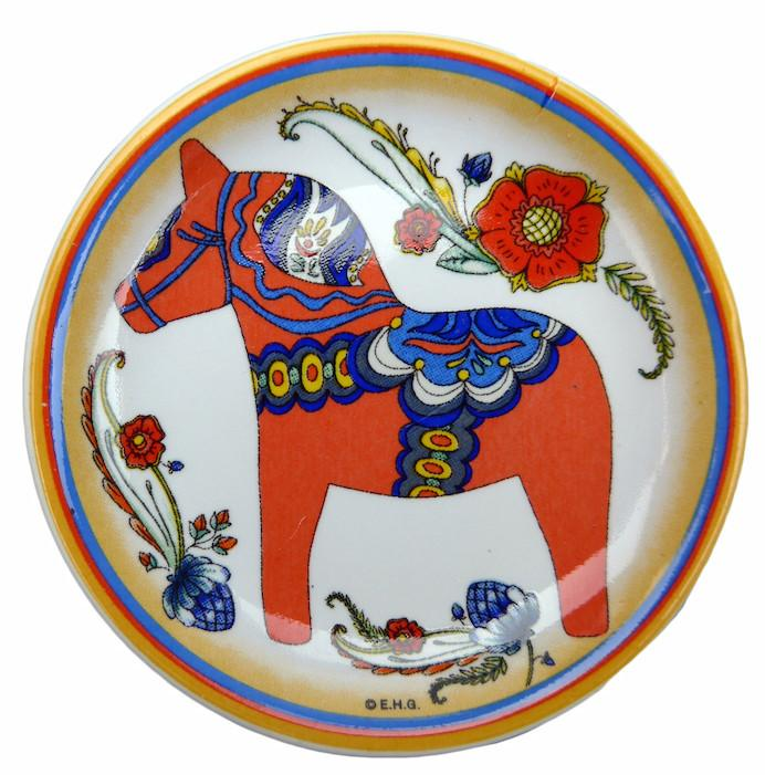 Red Dalarna Horse Refrigerator Magnet Plate - Below $10, Collectibles, CT-150, Dala Horse, Dala Horse Red, Dala Horse-Magnets, Decorations, Home & Garden, Kitchen Magnets, Magnets-Refrigerator, PS-Party Favors, Rosemaling, swedish, Top-SWED-A