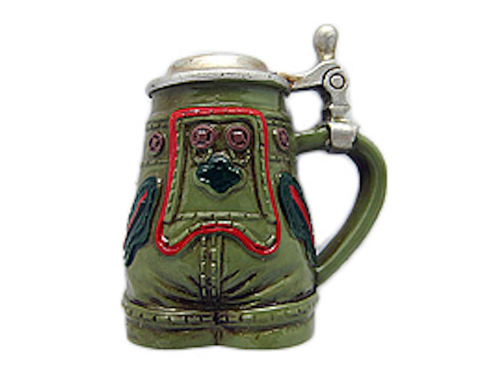 German Lederhosen Oktoberfest Stein Kitchen Magnet - Beer Stein-Magnets, Collectibles, CT-520, German, Germany, Home & Garden, Kitchen Magnets, Magnet-Stein, Magnets-German, Magnets-Refrigerator, Oktoberfest, Poly Resin, PS- Oktoberfest Party Favors, PS-Party Favors, PS-Party Favors German