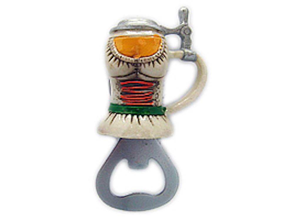 Magnetic Oktoberfest Bottle Opener Waitress Stein - Alcohol, Beer Stein-Magnets, Bottle Opener, Collectibles, CT-520, German, Germany, Home & Garden, Kitchen Magnets, Magnet-Stein, Magnets-German, Magnets-Refrigerator, Oktoberfest, Poly Resin, PS- Oktoberfest Party Favors, PS-Party Favors, PS-Party Favors German, Top-GRMN-B