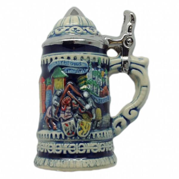 German Stein Magnet Germany Scene - Beer Stein-Magnets, Collectibles, CT-520, German, Germany, Home & Garden, Kitchen Magnets, Magnet-Stein, Magnets-German, Magnets-Refrigerator, PS- Oktoberfest Party Favors, PS-Party Favors, PS-Party Favors German, Top-GRMN-B