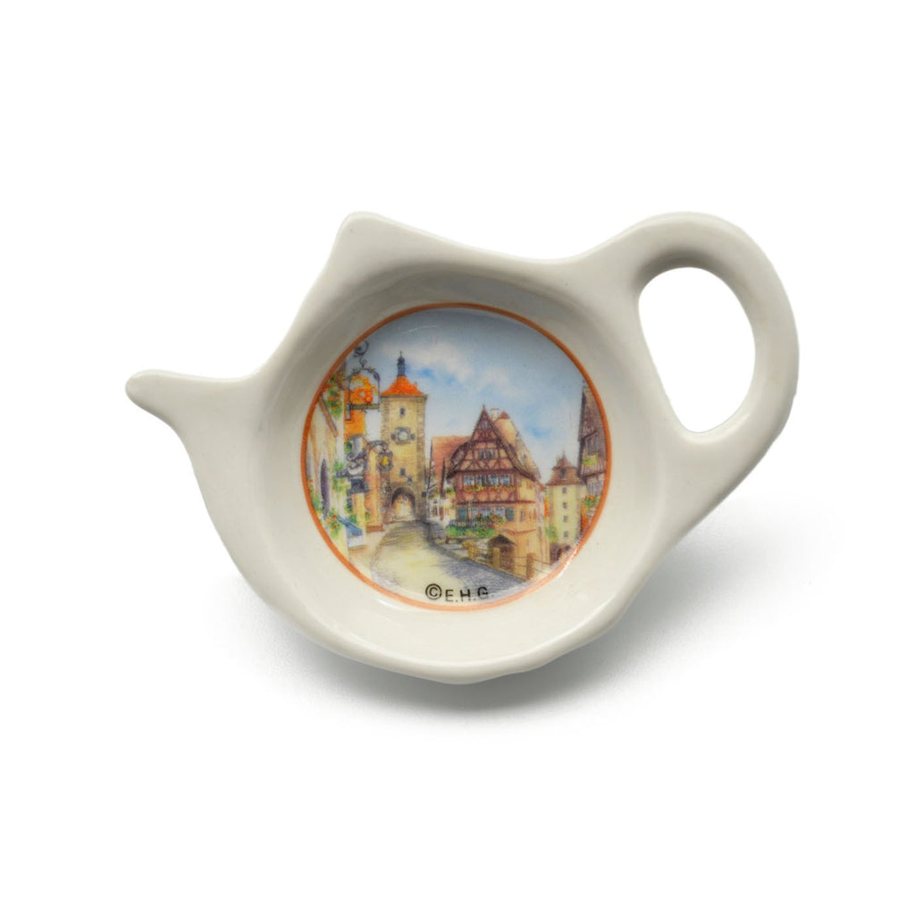 European Village Scene Teapot Magnet - Euro Village, German, Magnet Teapot, Magnets-Refrigerator, New Products, NP Upload, PS-Party Favors German, Under $10, Yr-2016
