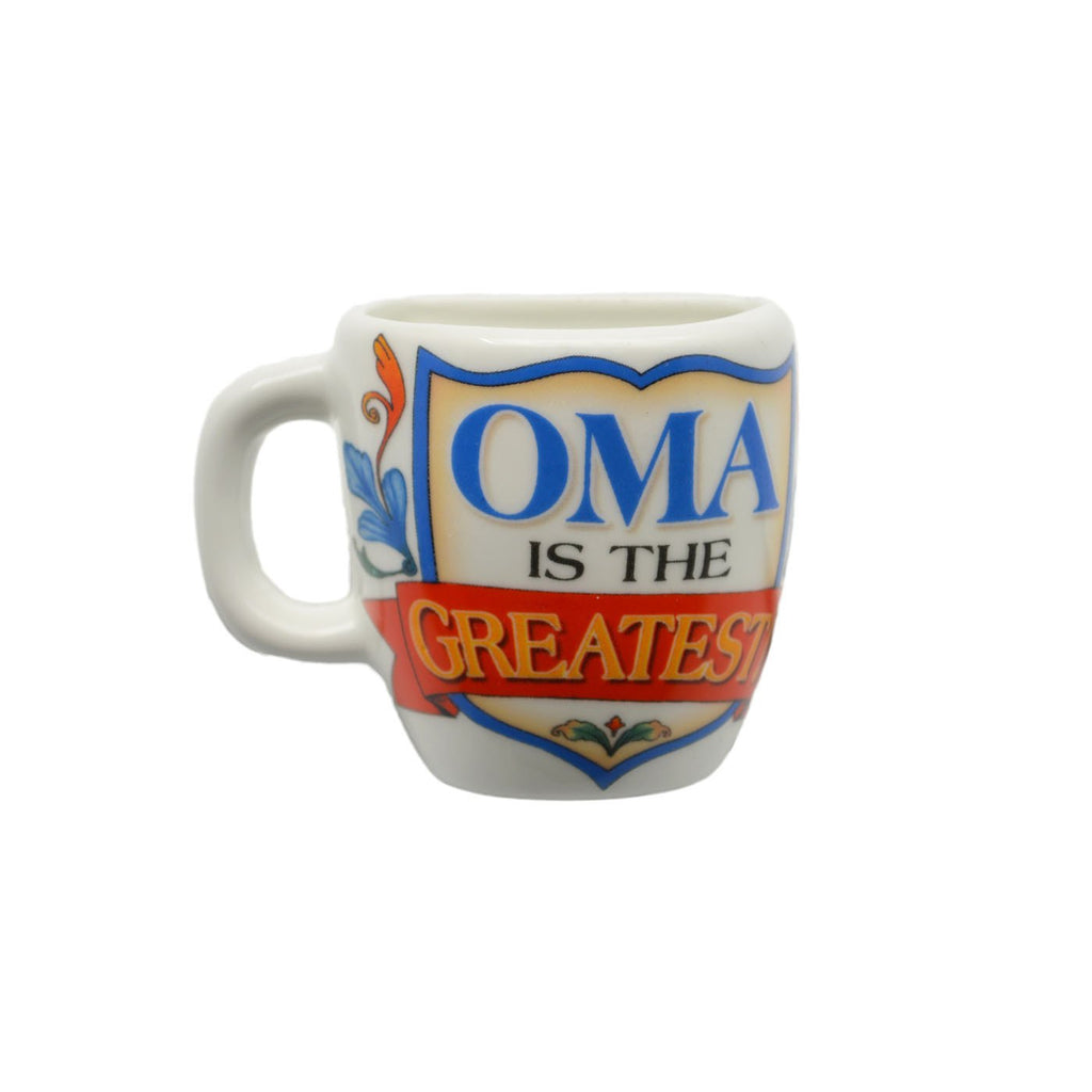 inchesOma is the Greatest inches Mug Magnets with Birds Design - CT-100, CT-102, Magnet Mug, Magnets-Refrigerator, New Products, NP Upload, Oma, Rosemaling, SY:, SY: Oma Greatest, SY: Oma is the Greatest, Under $10, Yr-2016