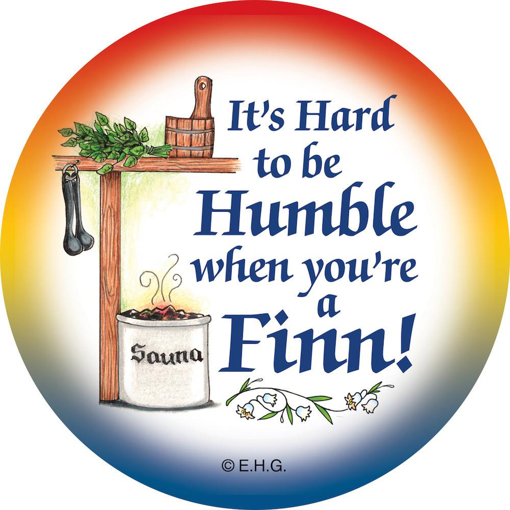 Metal Button  inchesHumble Finn inches - Apparel-Costumes, Festival Buttons, Festival Buttons-Finnish, Finnish, Metal Festival Buttons, PS-Party Favors, PS-Party Favors Finnish, SY: Humble Being Finn