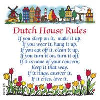 Dutch Magnet  inchesDutch House Rules inches - Collectibles, CT-210, Dutch, Home & Garden, Kitchen Decorations, Kitchen Magnets, Magnet Tiles, Magnet Tiles-Dutch, Magnets-Dutch, Magnets-Refrigerator, PS-Party Favors, SY: House Rules-Dutch, Top-DTCH-B