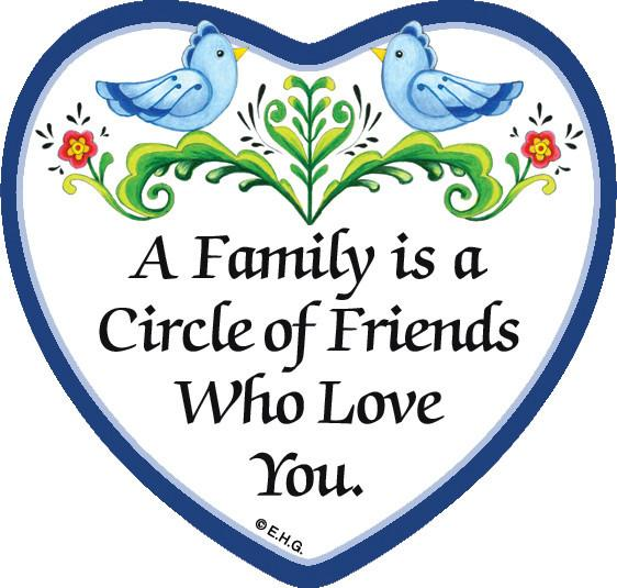 inchesA Family Is a Circle Of Friends Who Loves You inches Magnetic Heart Tile - General Gift, Magnet Tiles-Heart, Magnets-Refrigerator, New Products, NP Upload, Rosemaling, SY:, SY: Family Circle of Friends, Top-GNRL-B, Under $10, Yr-2016