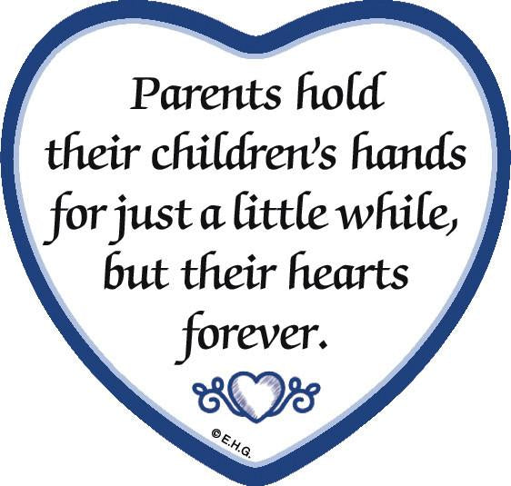 inchesParents Hold Childrens Hands inches Magnetic Heart Tile - General Gift, Magnet Tiles-Heart, Magnets-Refrigerator, New Products, NP Upload, SY:, SY: Parents Hold Children's Hands, Under $10, Yr-2016