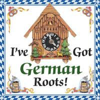 German Gift Idea Magnet German Roots - Below $10, Collectibles, CT-106, CT-220, CT-520, German, Germany, Home & Garden, Irish, Kitchen Magnets, Magnet Tiles, Magnet Tiles-German, Magnets-German, Magnets-Refrigerator, PS-Party Favors, PS-Party Favors German, SY: Kiss Cook-Irish, Top-GRMN-B, Wife