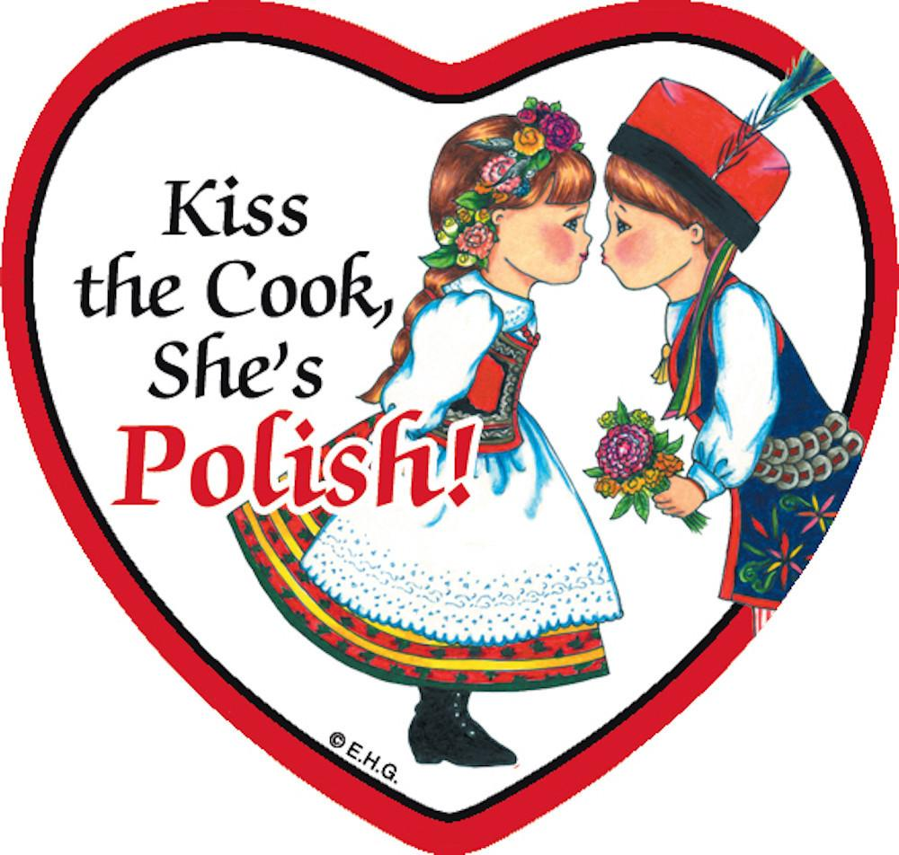 Tile Magnet Polish Cook - Below $10, Collectibles, CT-245, Home & Garden, Kitchen Magnets, Magnet Tiles, Magnet Tiles-Heart, Magnet Tiles-Polish, Magnets-Polish, Magnets-Refrigerator, Polish, PS-Party Favors, SY: Kiss Cook-Polish, Wife