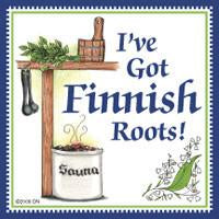 Finnish Souvenirs Magnetic Tile: Finnish Roots - Collectibles, CT-215, Finnish, Home & Garden, Kitchen Magnets, Magnet Tiles, Magnet Tiles-Finnish, Magnets-Refrigerator, PS-Party Favors, PS-Party Favors Finnish, SY: Roots Finnish, Top-FINN-A