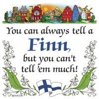 Finnish Souvenirs Magnet Tile: Tell A Finn - Collectibles, CT-215, Finnish, Home & Garden, Kitchen Magnets, Magnet Tiles, Magnet Tiles-Finnish, Magnets-Refrigerator, PS-Party Favors, SY: Tell a Finn, Top-FINN-B